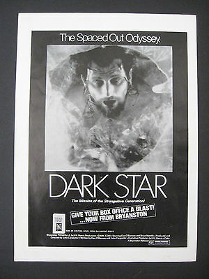 1975 DARK STAR Movie Release Scarce Trade Ad Spaced Out Odyssey Strangelove