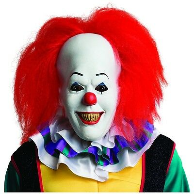 Pennywise Mask Adult Scary Clown It Halloween Costume Fancy Dress