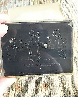 Vintage photographic glass plate.