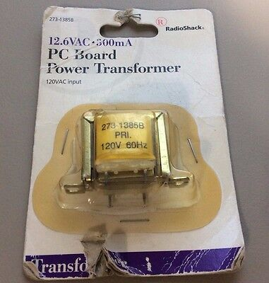 12.6 volt AC transformer, 300mA, PC board mount, new in package PCB-Mount