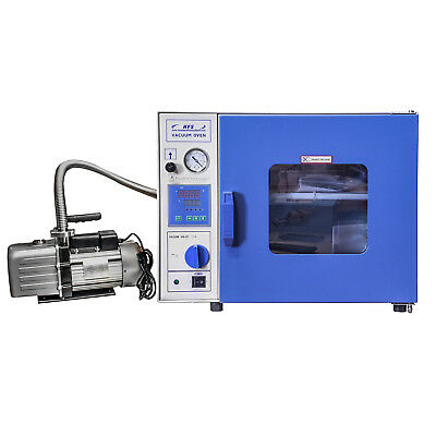 """HFS 0.9 Cuft Digital Vacuum Oven With Pump Complete Kit €"""" Stainless Steel Hose"""