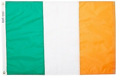 Ireland Flag 3x5 ft. 100% Nylon SolarGuard Nyl-Glo: Made in USA by Annin (NIB)
