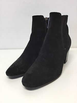 Aquatalia Black Suede Pointy Toe Ankle Boots Women's Size 6 M
