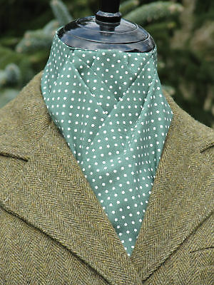 Ready Tied Forest Green & White Pin Dot Stock (Tie, Show)