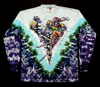Grateful Dead Shirt T Shirt Vintage 1996 Ski Skiing GD Bear Tie Dye GDM XL New !