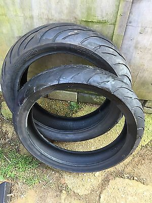 Tyre Pair Continental Front And Rear 120/60/17 170/60/17