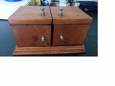 antique magic slider box very old  works great bit would need touch up to use ,