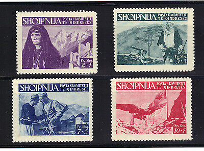 Albania Stamps WWII Resistance 1st Series 1940's Fighters Rare MNH Complete Set