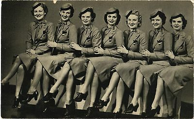 United Stweardesses Airline Issue. Aviation Airplane Postcard