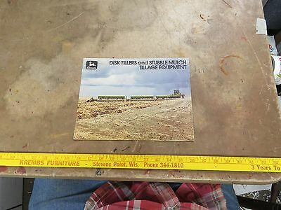 John Deere 1977 Disk Tillers & Stubble Mulch Tillage Equipment Brochure
