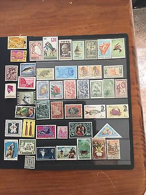 46 MNH Stamps Various Country's