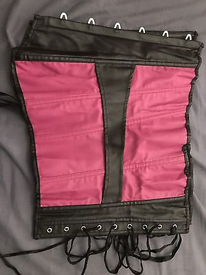Hot Pink And Black Corset