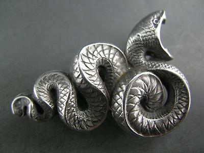 Sterling KERR Art Nouveau Pin or Watch Chatelaine Holder SNAKE