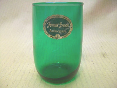 Anchor Hocking Glassware Forest Green Glass Votive Candle Holder Vtg Collectible