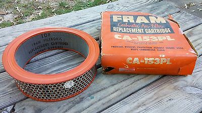 Vintage FRAM CA-153PL Carb Air Filter-NOS-EDSEL Cars&Station Wagons
