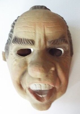 USA President R. NIXON mask, vintage GOOD CONDITION  HALLOWEEN / GAG PARTY