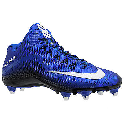 New Nike Alpha Pro 2 3/4 D Mid Mens Football Cleats Detachable Studs : Blue