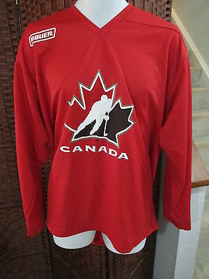 Bauer Team Canada Hockey jersey Size Large Practice Jersey Red