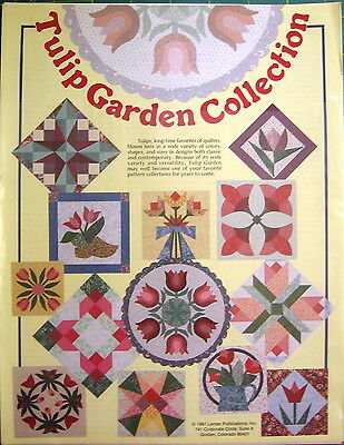 Tulip Garden Collection Quilt Pattern, Pieced & Appliqued Patterns