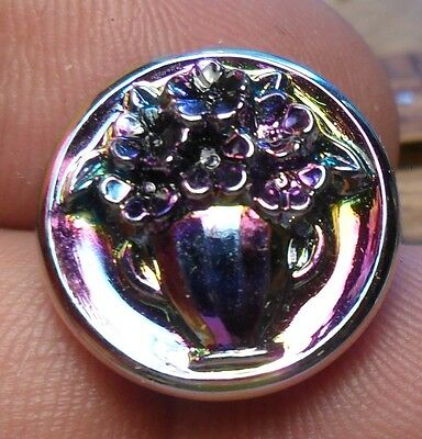 WOW 3/4 Nice Old Glass Antique Button 233:20