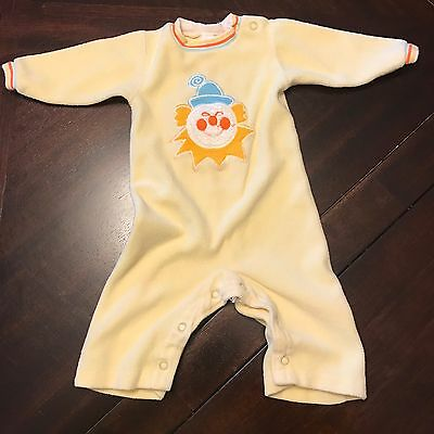 Carter's Vintage Yellow Clown Outfit 9 Months
