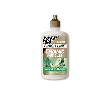FINISH LINE CERAMIC WET BIKE CYCLE CHAIN LUBE LUBRICANT   4oz 120ml BOTTLE