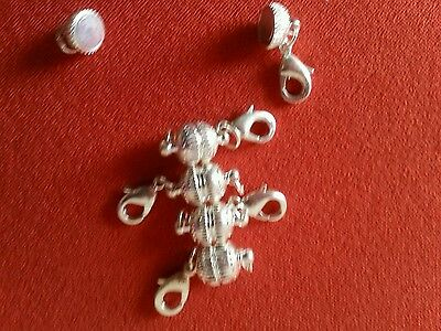 Magnetic clasp converters,  5 x silver colour. Easy fix for tiny necklace clasps