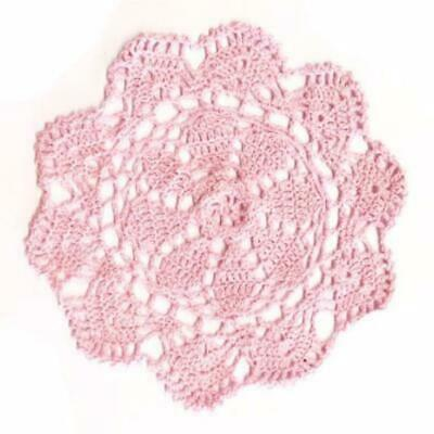 New Pastel Pink 25cm Crochet Doily - Wholesale Feathers & Craft Supplies