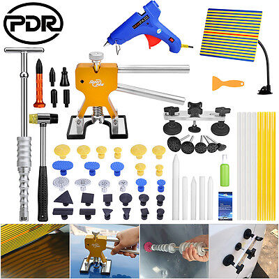 PDR 61x Paintless Dent Removal Dent Lifter Slide Hammer Puller Line Board Tools