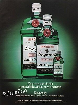 1987 TANQUERAY GIN Absolutely Perfect VINTAGE PRINT AD