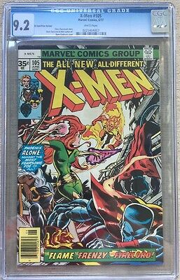 X-men #105 (06/77) 35 Cent Price Variant (0.35) CGC 9.2 WHITE pages **REDUCED**