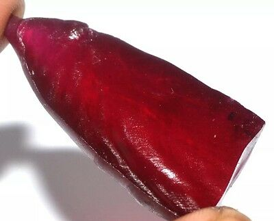 Natural VS Clarity Ruby Gemstone Rough Specimen 131.90CT Certified Unheated
