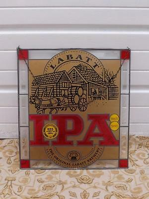 Labatt Ipa Bar Man Cave Sign Stained Glass Window Advertise 125 Years 1865-1990