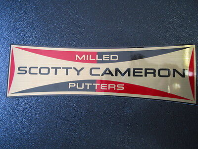 Scotty Cameron 2017 Milled Putters Retro Rectangle Gold Red Sticker Decal NEW