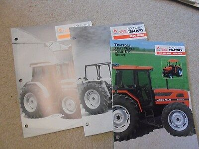 Vintage AGCO Allis 5600  and 6600 Series Tractor Brochures