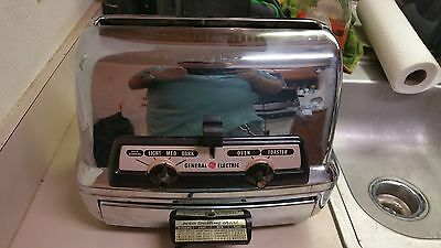 Vintage Chrome General Electric 35t83 Toaster and Oven Combo **Lowest Price**