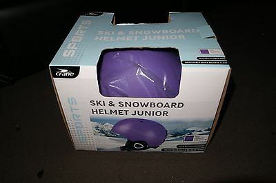 Crane ski & snowboard Helmet Junior Purple