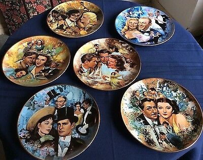 """6 Collectors Plates  """"The Golden Age of Cinema """" MGM 1978"""