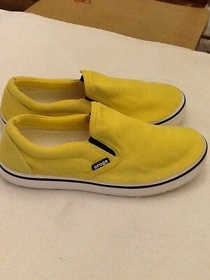Crocs Men's Fashion Casual Slip On Comfort Loafer, Size 9, Yellow