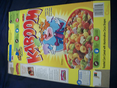 Cereal Box Lot General Mills Kaboom Lucky Charms
