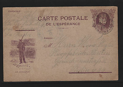 AP155 French Military Postal Card. 1920 in German to Germany military cachet
