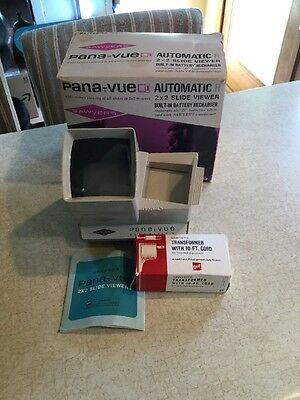 Pana-Vue Automatic R 2x2 Slide Viewer In Box Transformer Instruction Booklet