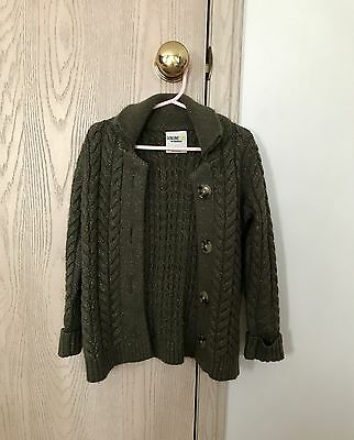 Toddler Girl's Button Down Cardigan - Dark Olive Green - 4T