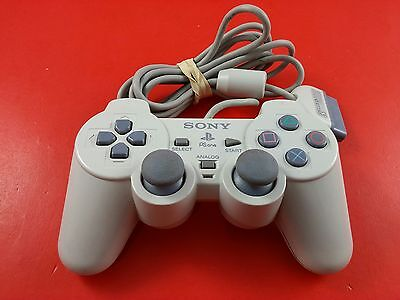Sony Playstation 1 PS1 Gray White Dual Shock Controller [Official Original OEM]