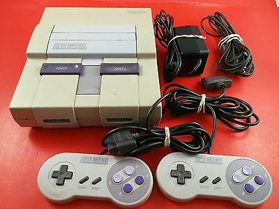 Super Nintendo System [w/2 Official Controllers & All Cables] Tested & Working