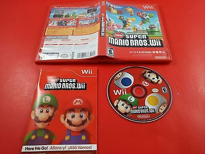 New Super Mario Bros. Wii [CIB Complete in Box] (Nintendo Wii) Tested & Working