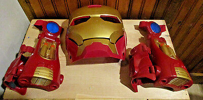 Lot of 2 Ironman 2 3 in 1 Repulsor comes with Ironman Mask no gloves