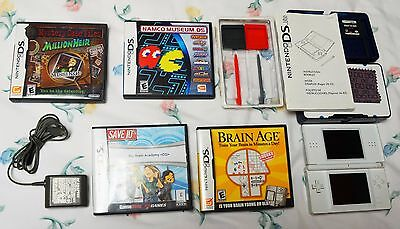 Nintendo DS Lite with games, manual, case and extra stylus - Free Shipping!