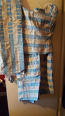 Aso-Oke Women's Custom Made Handwoven  Outfit Waist Size 38
