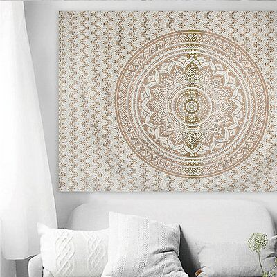 Indian Mandala Tapestry Hippie Wall Hanging Bohemian Queen Bedspread Throw Decor